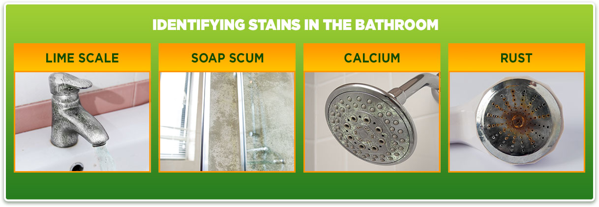 Image depicting bathroom stain types